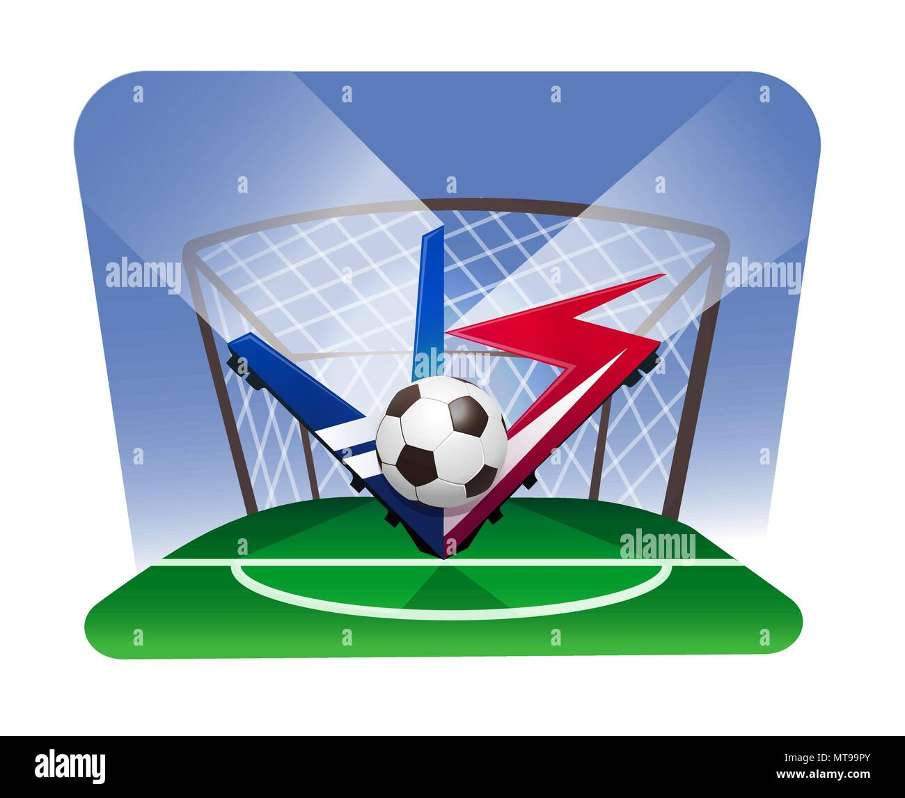 world championship football cup. Battle vs match, game concept competitive vs. - Stock Vector