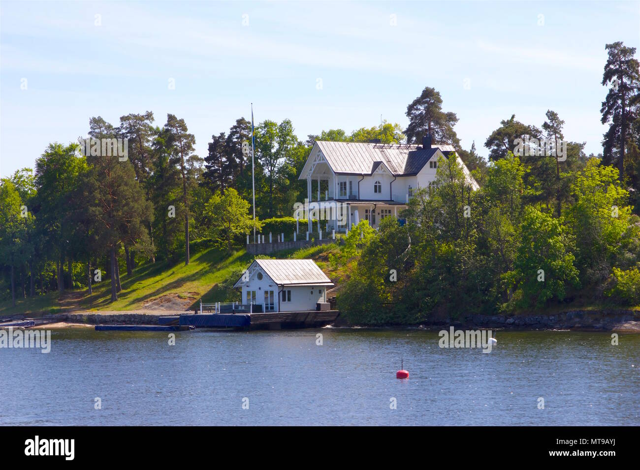 Summer houses in the Stockholm Archipelago - Stock Image