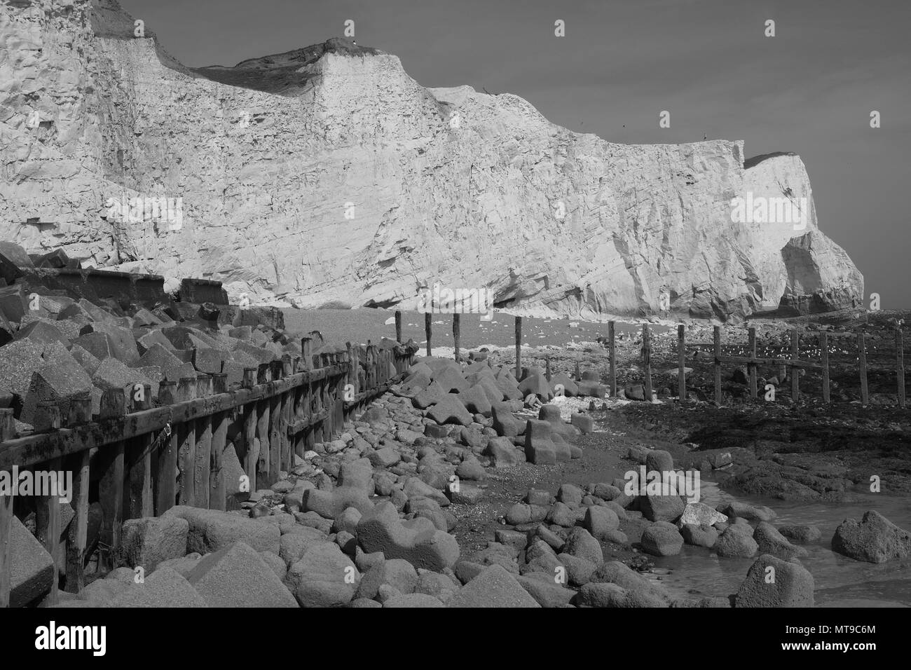 Seaford Head Cliff - Stock Image