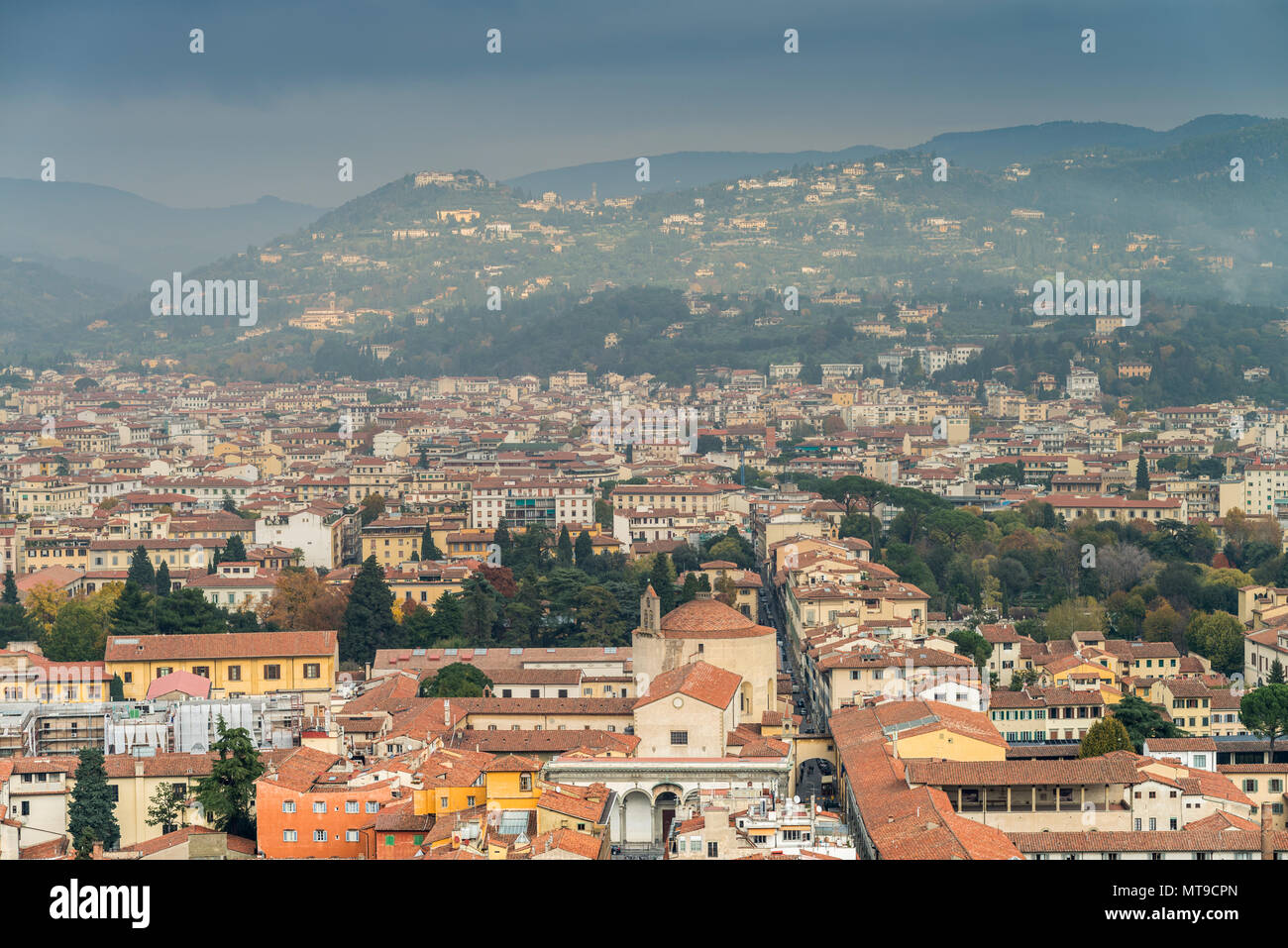 Florence Dome: Florence Cathedral Dome Brunelleschi Stock Photos
