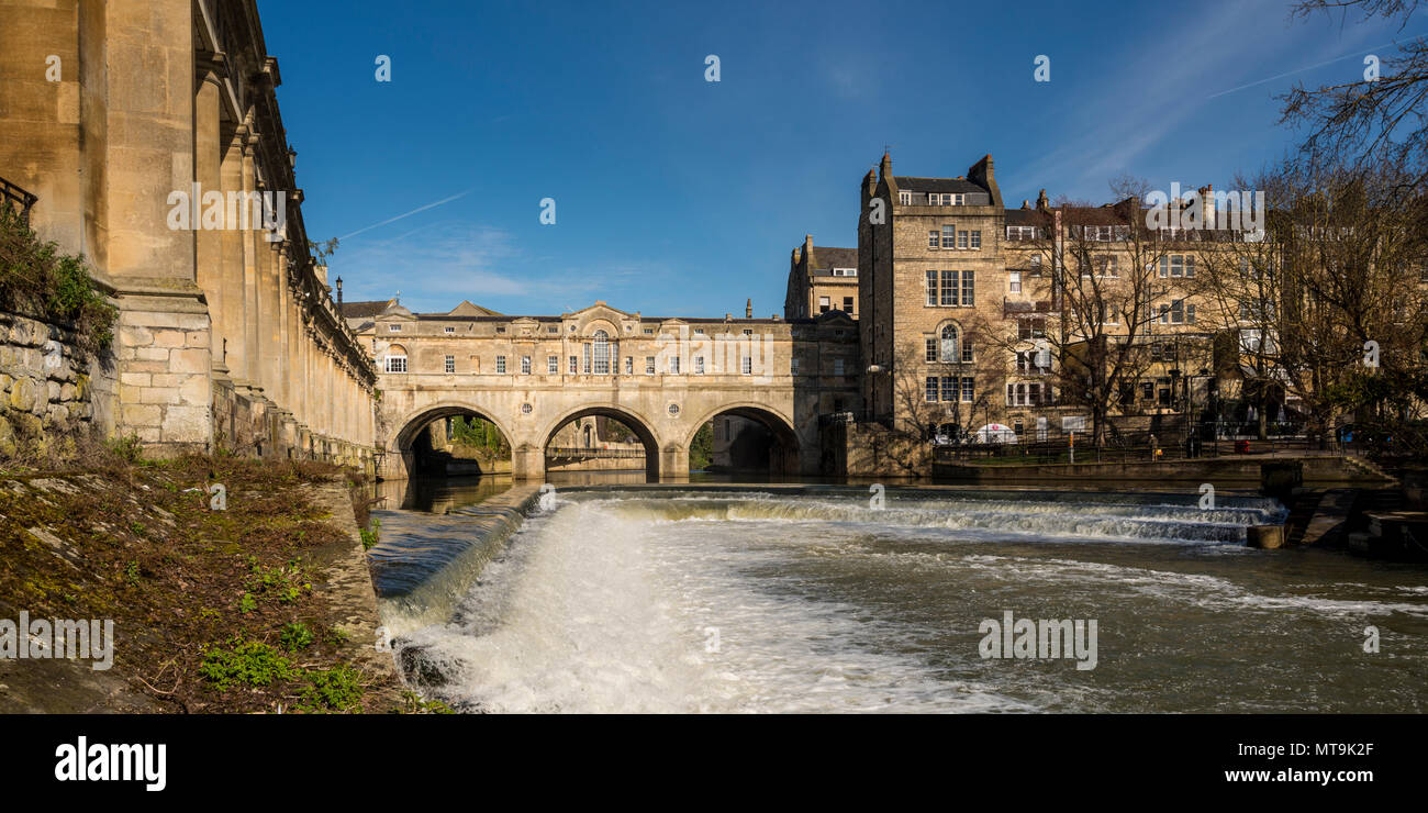 Pultney Bridge and River Avon, Bath, Somerset, UK - Stock Image