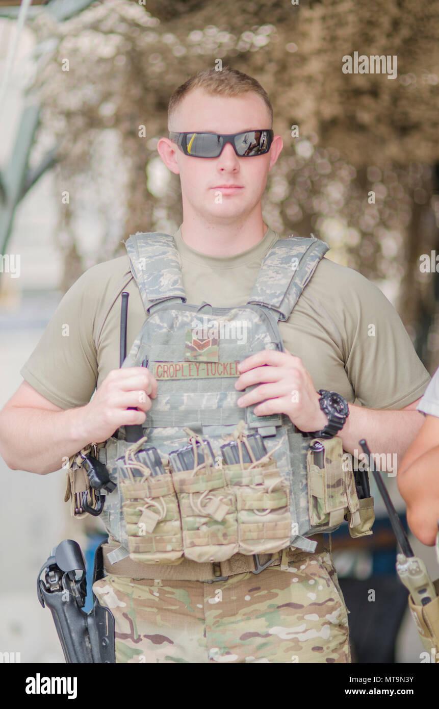 Senior Airman Gary-Alan Cropley-Tucker, 380th Security