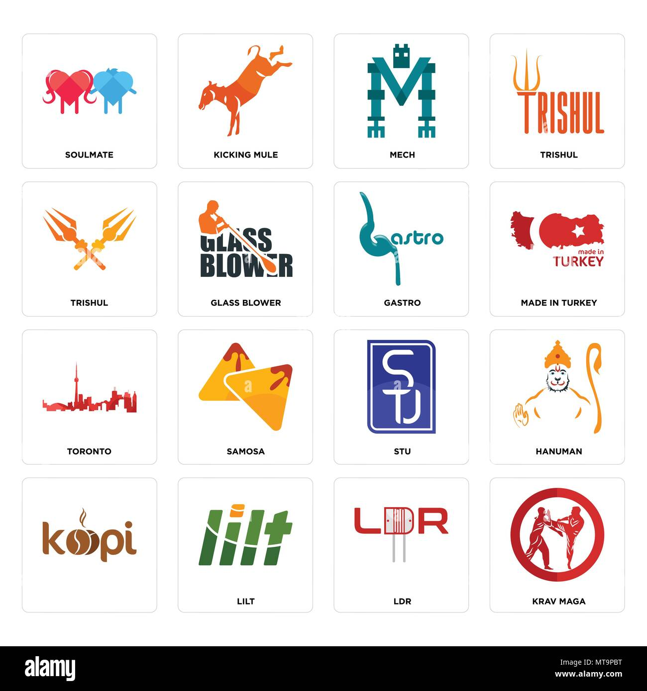 Set Of 16 simple editable icons such as krav maga, ldr, lilt ...