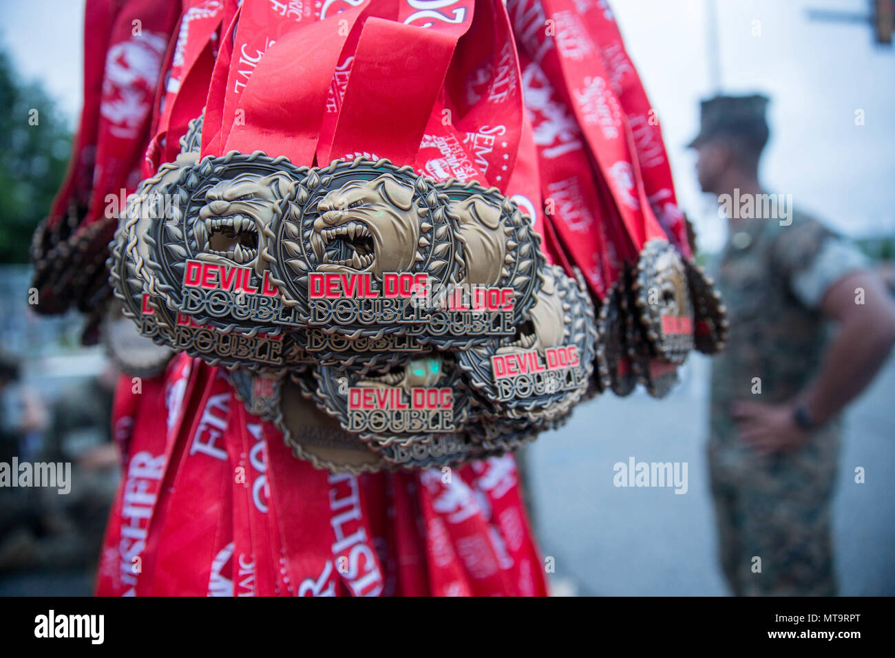 medals for the devil dog double race of the 11th annual marine corps