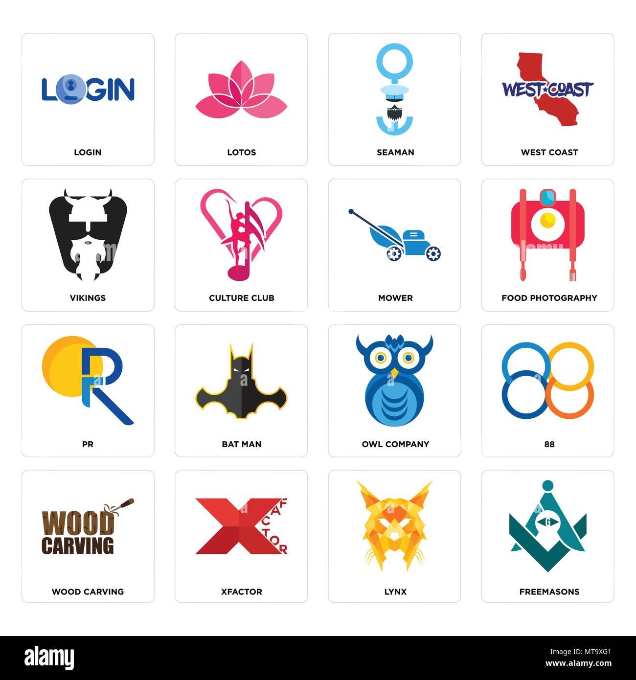Set Of 16 Simple Editable Icons Such As Freemasons Lynx