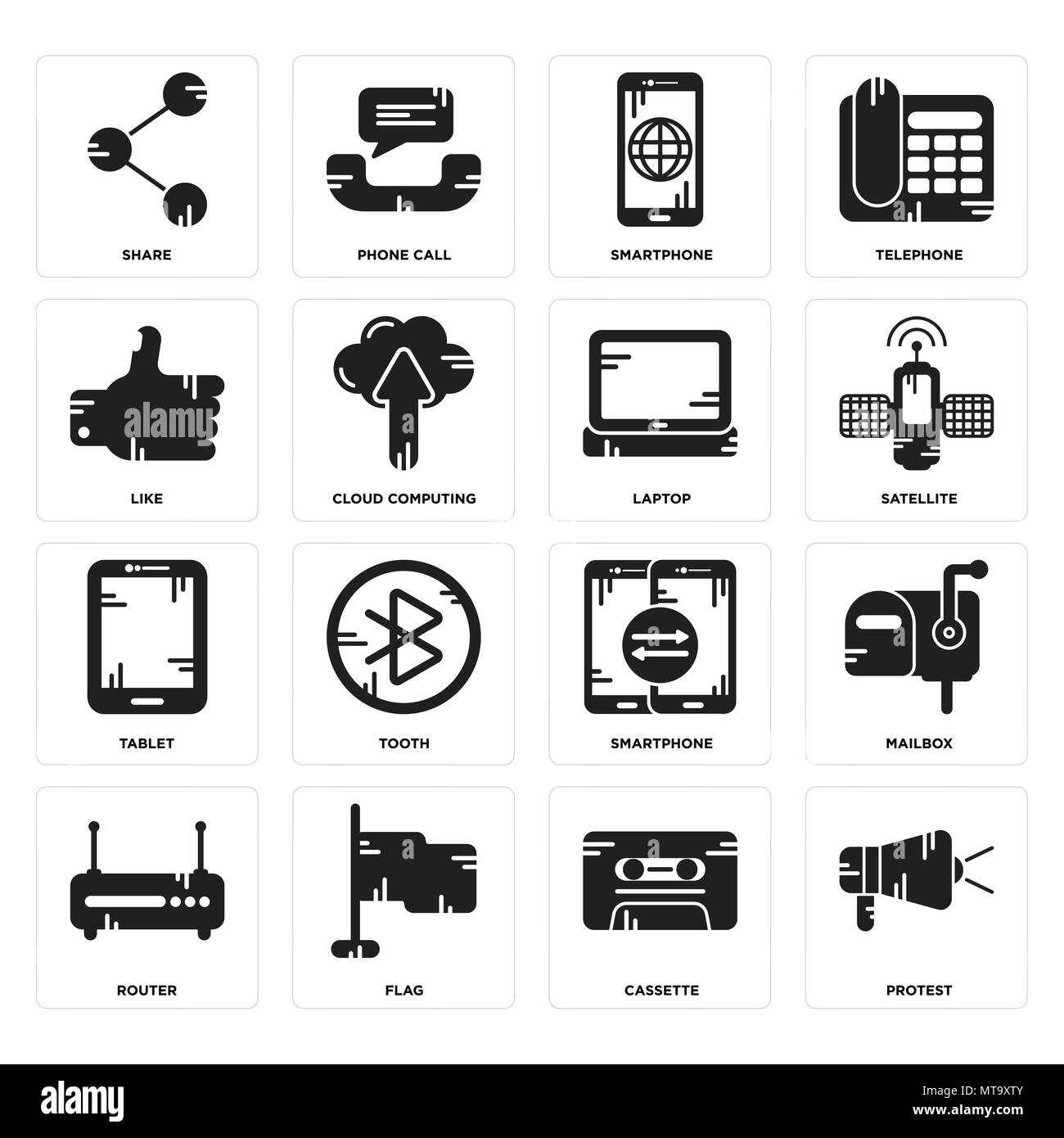 Set of 16 simple editable icons such as protest cassette flag set of 16 simple editable icons such as protest cassette flag router mailbox share like tablet laptop can be used for mobile web ui keyboard keysfo Gallery