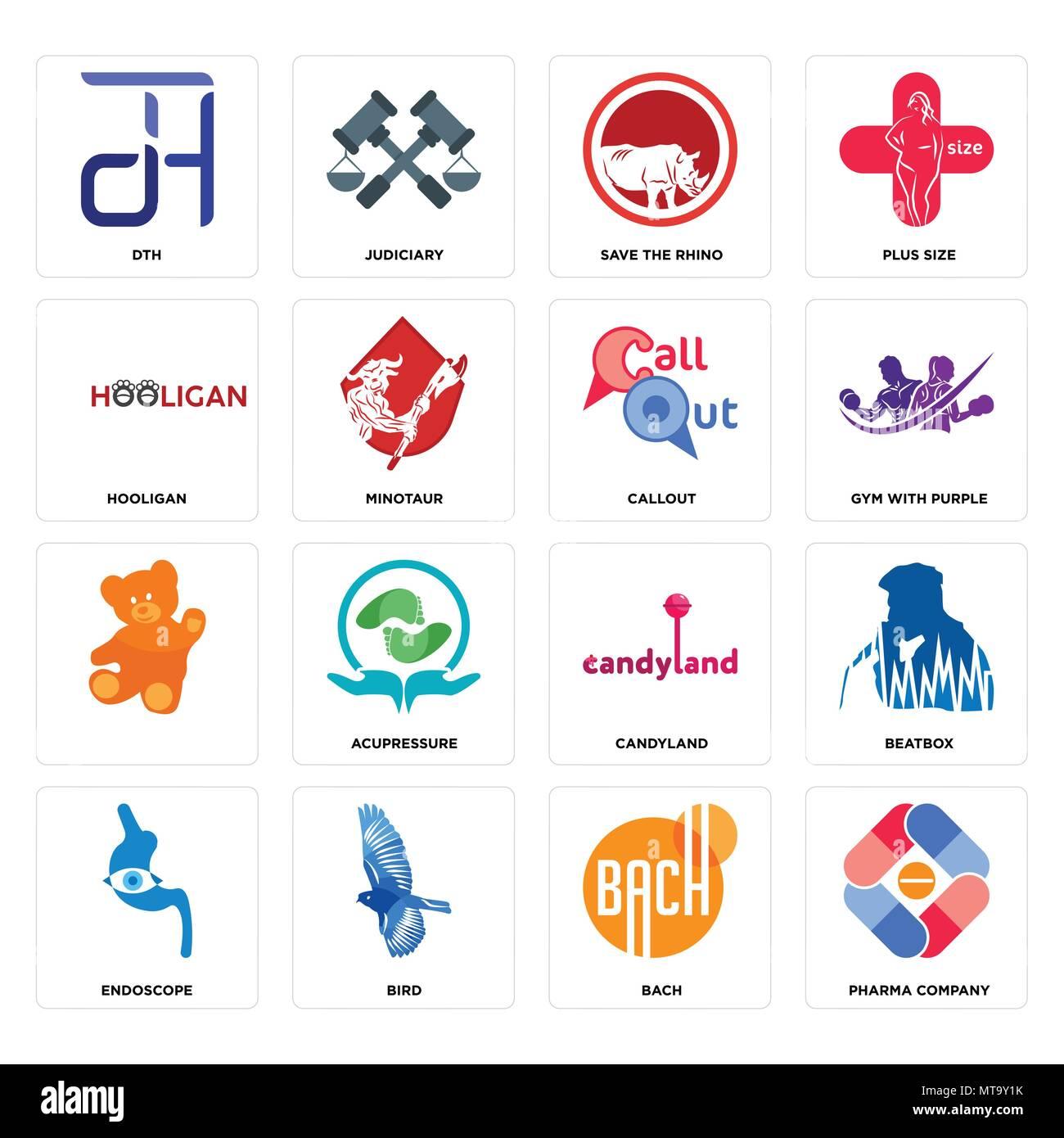 Set Of 16 Simple Editable Icons Such As Pharma Company Bach Bird