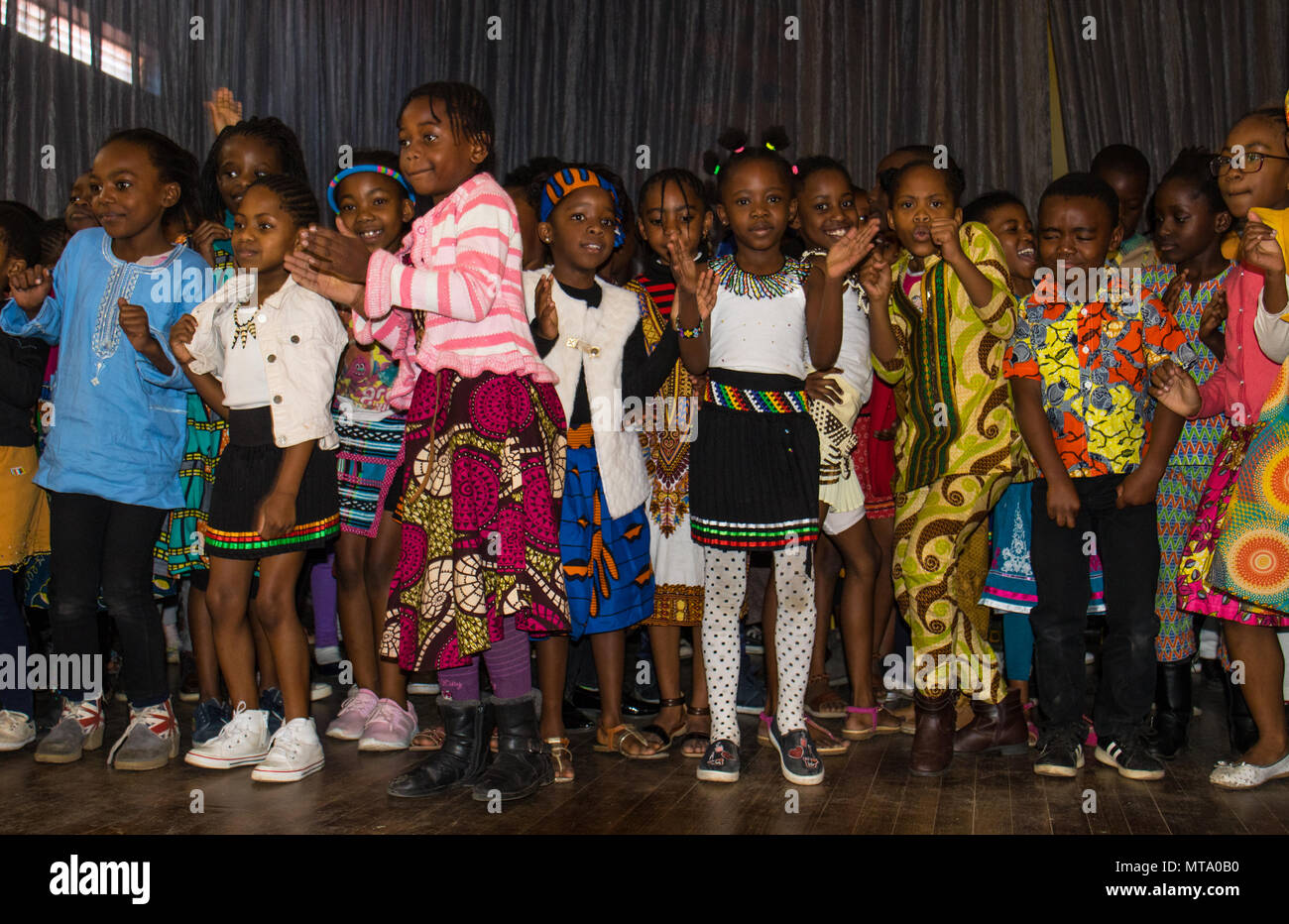 Johannesburg South Africa Unidentified School Children Some In Traditional Dress Celebrate Africa Day Stock Photo Alamy