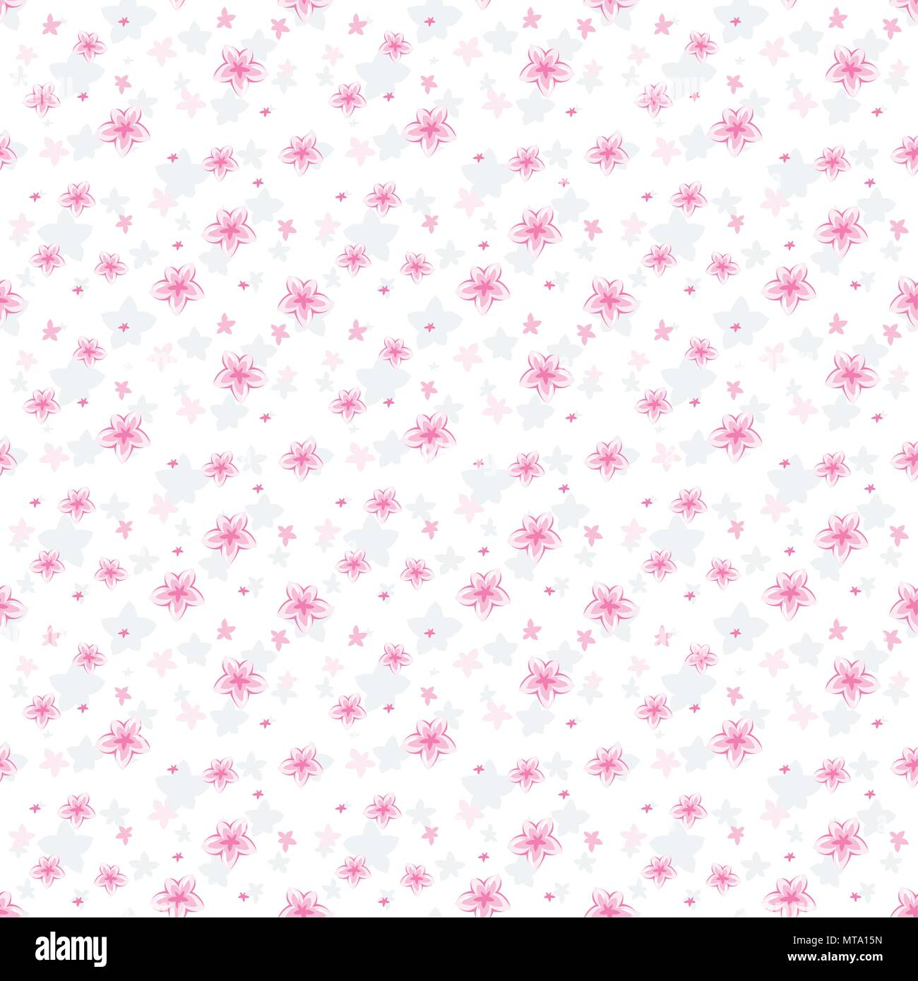 Vector Seamless Pattern Cute Pattern In Small Flower White