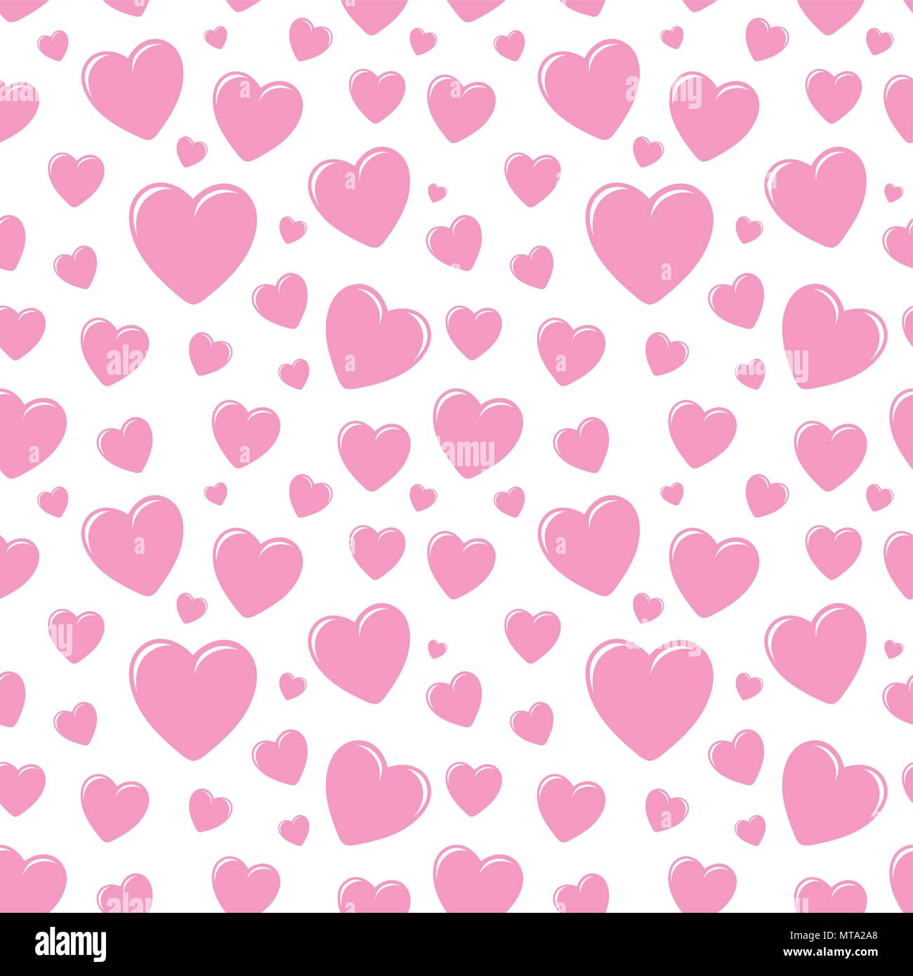 Seamless Pattern With Hearts Valentines Day Background Vector