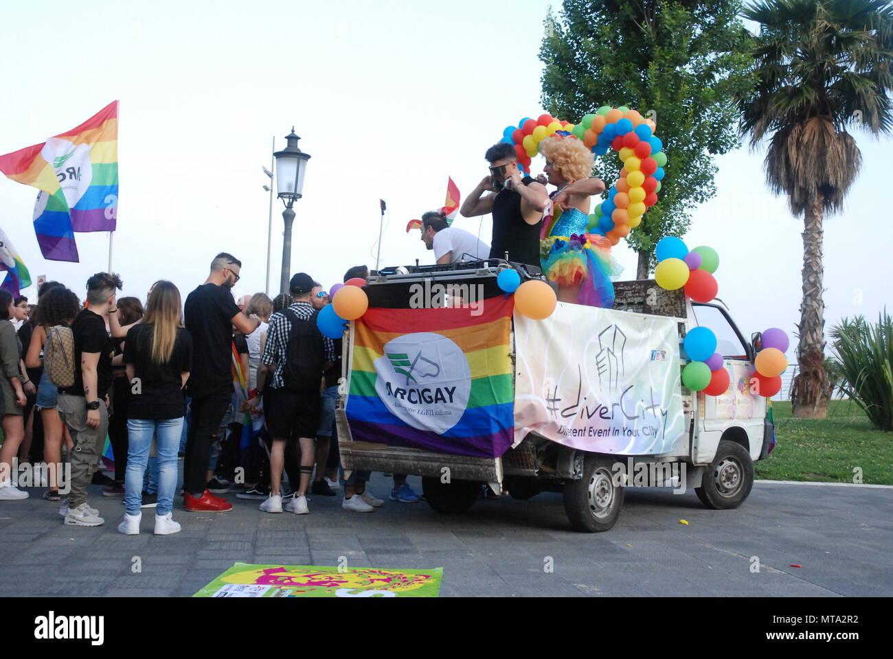 Salerno, South Italy, May 26, 2018, Gay Pride event : Gay Pride Salerno. - Stock Image