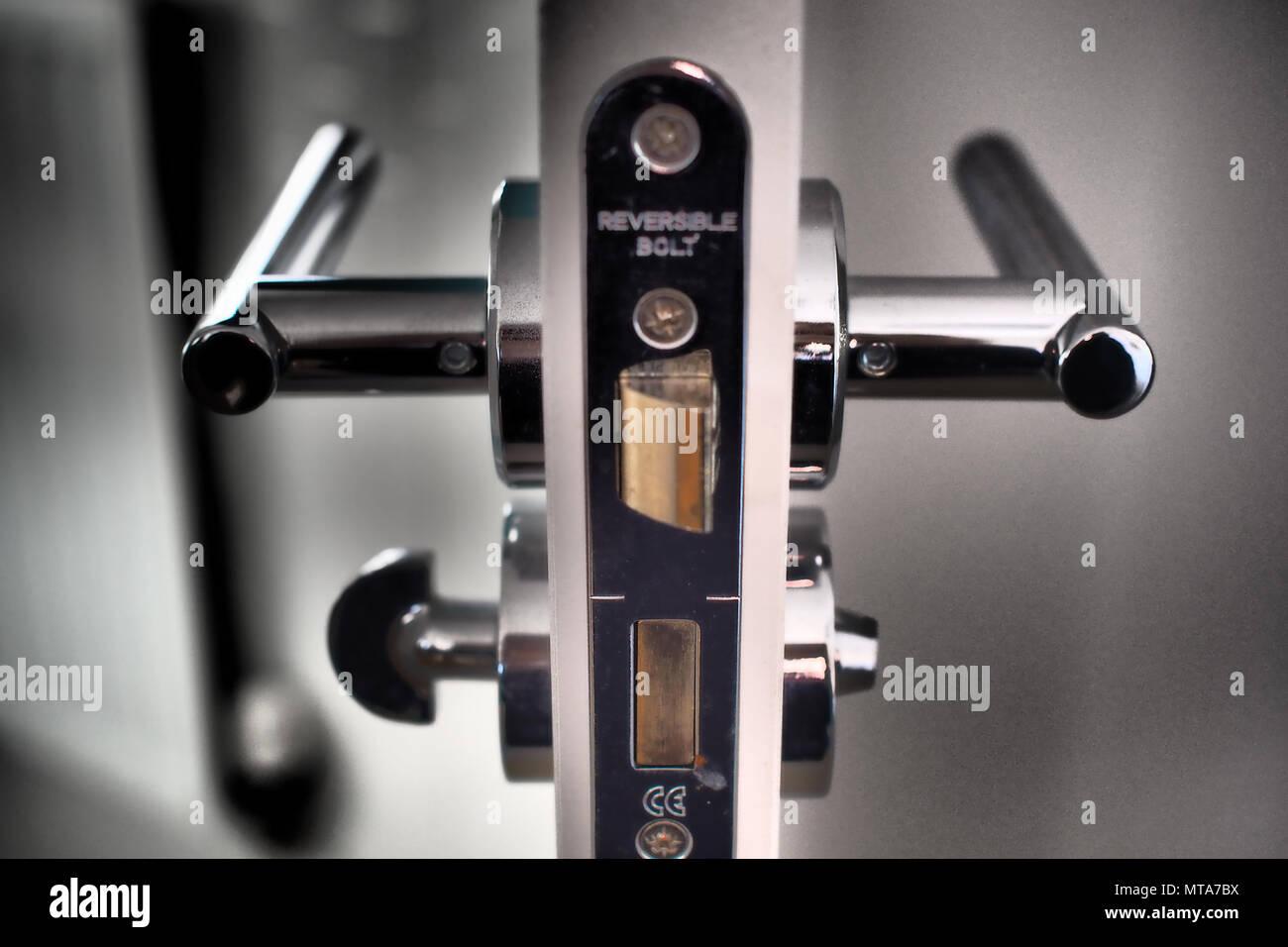 Door handle cross-section - Stock Image