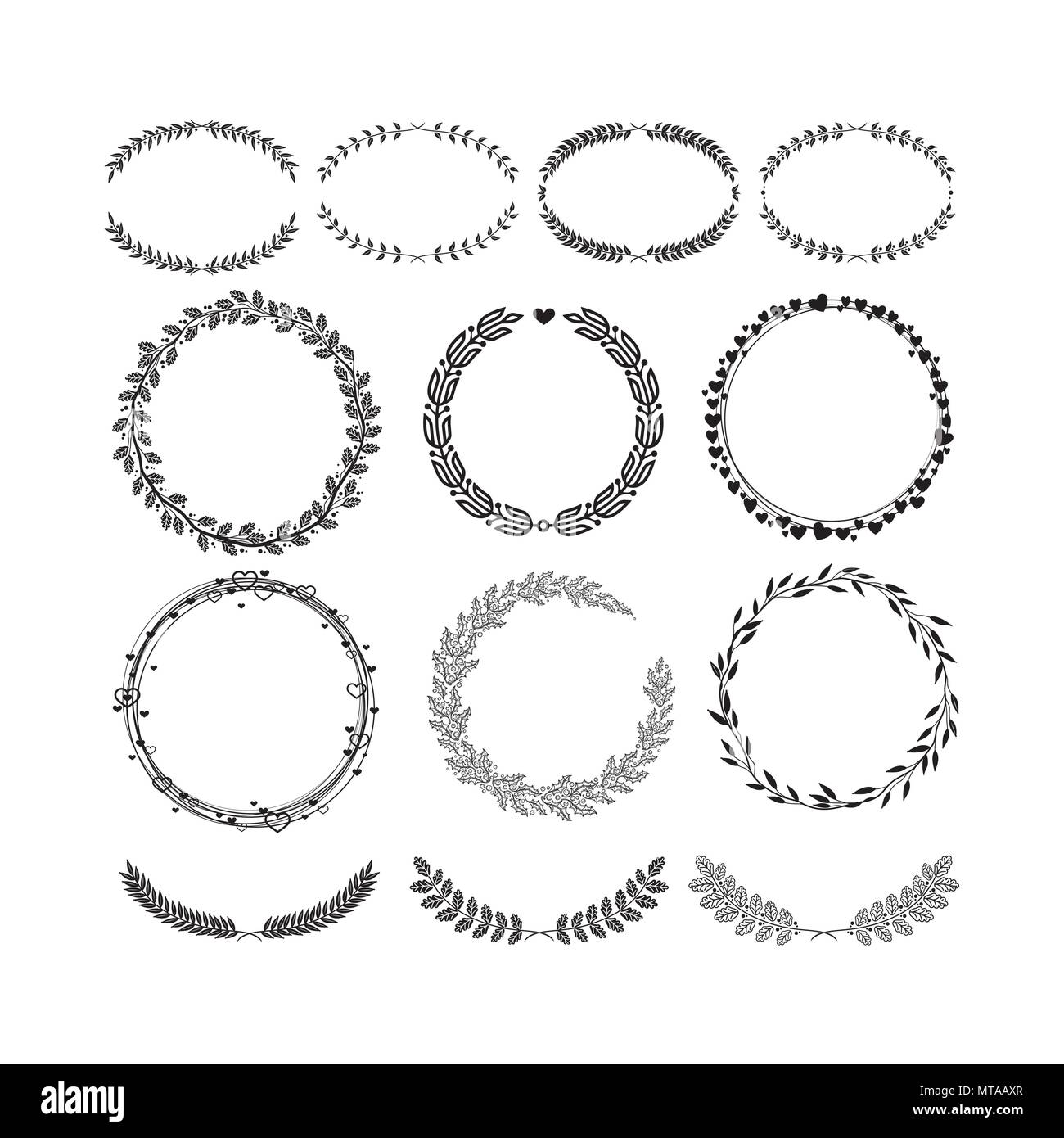 Laurels And Wreaths Design Elements For Invitations Greeting Cards