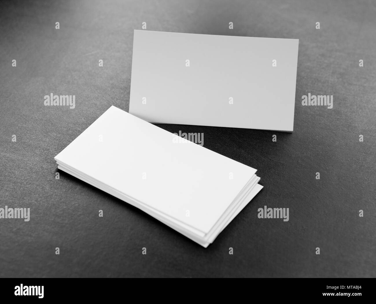 Blank Business Cards On A Grey Background Identity Design Corporate Templates Company Style