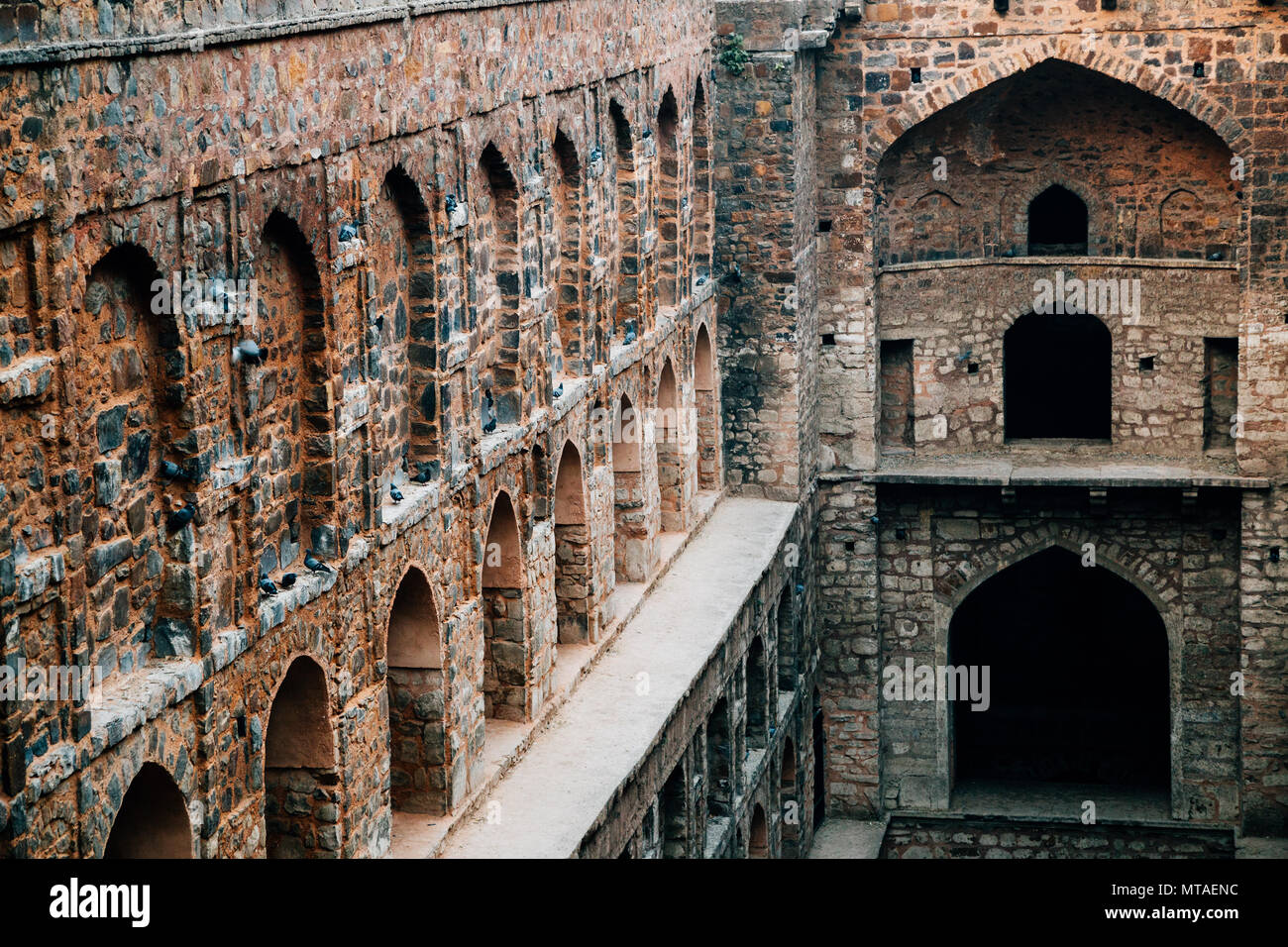 Agrasen ki Baoli, Stepwell in Delhi, India - Stock Image
