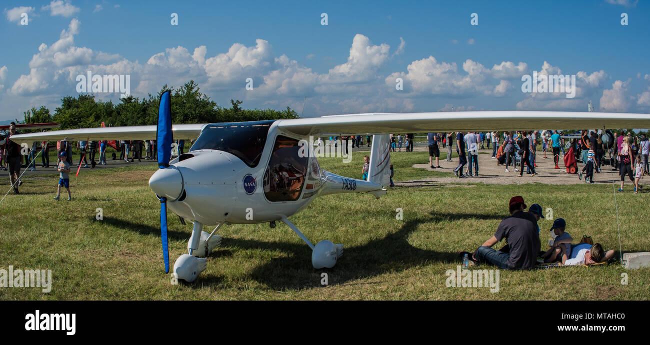 aircraft at the airshow - Stock Image