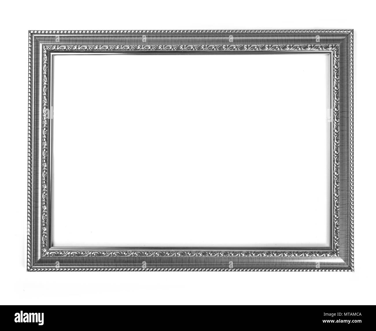 Silver frame for painting or picture on white background Stock Photo ...