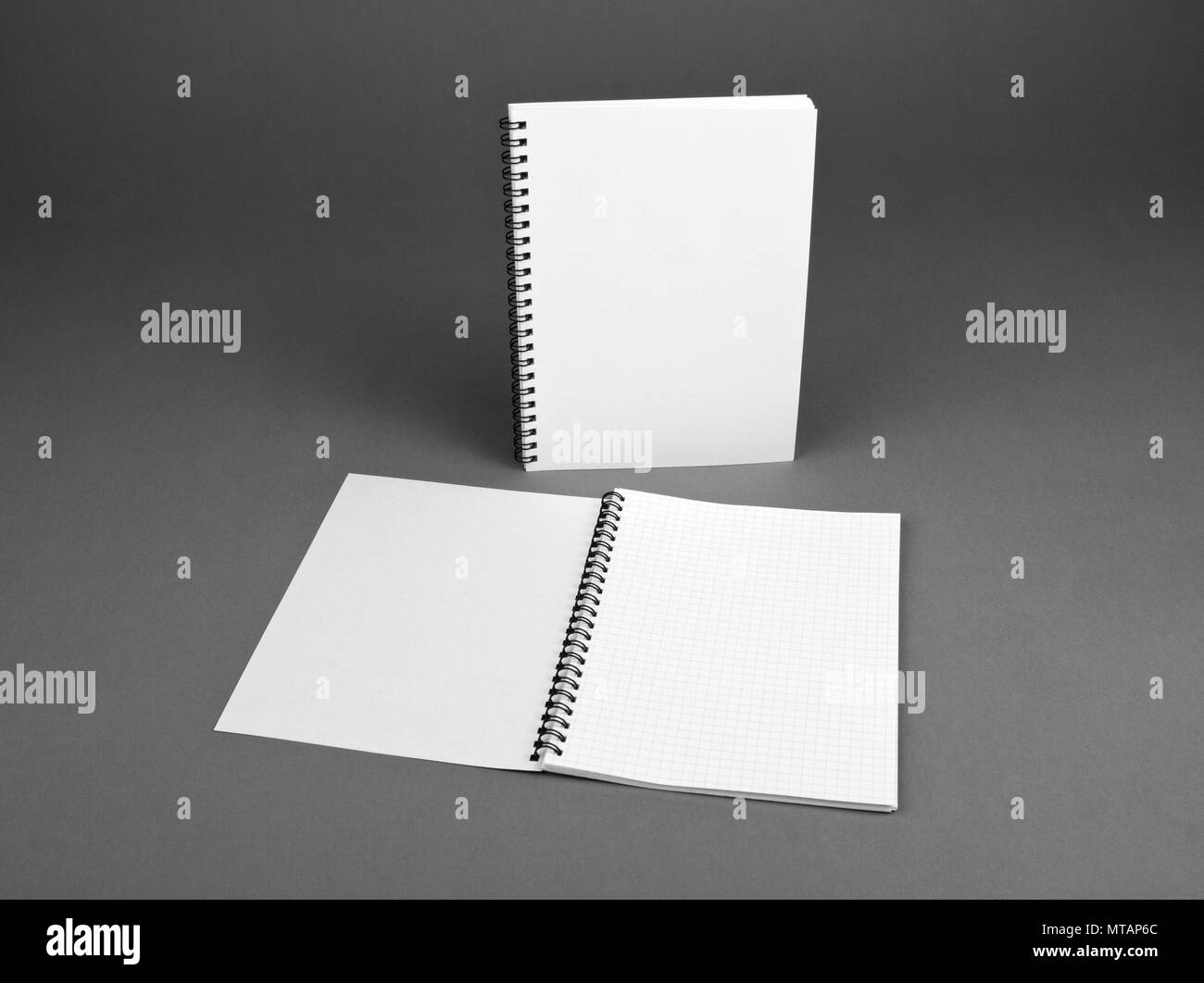 Blank spiral notebook on gray background template for your design blank spiral notebook on gray background template for your design maxwellsz