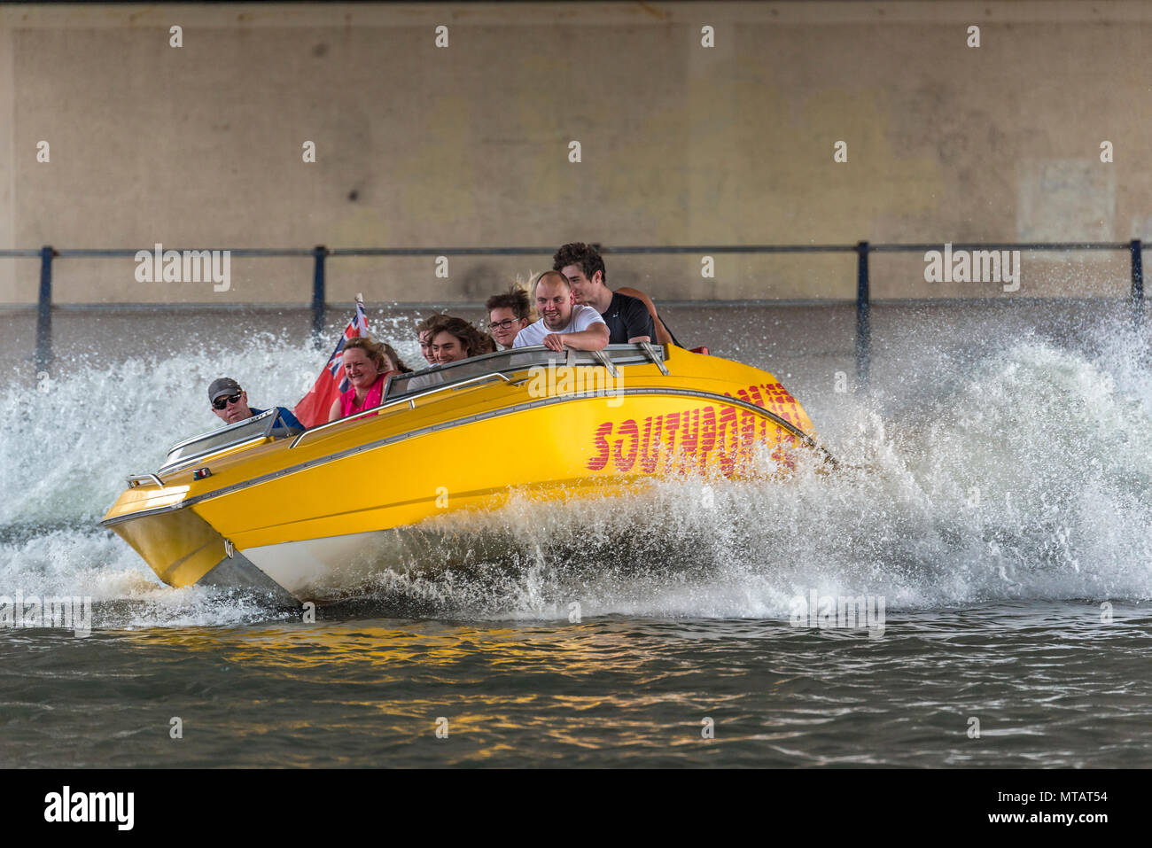 Southport Marine Lake jet boat - Stock Image
