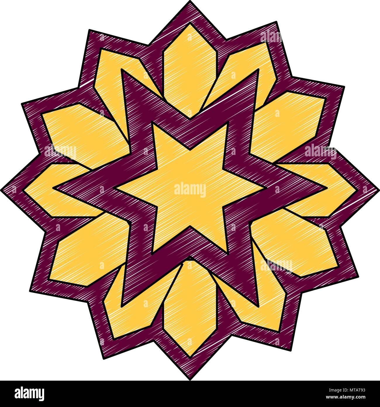 mandala decorative ramadan kareem - Stock Image