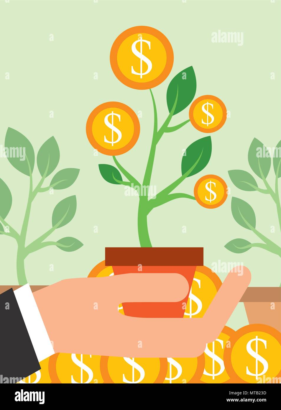 saving money business - Stock Image