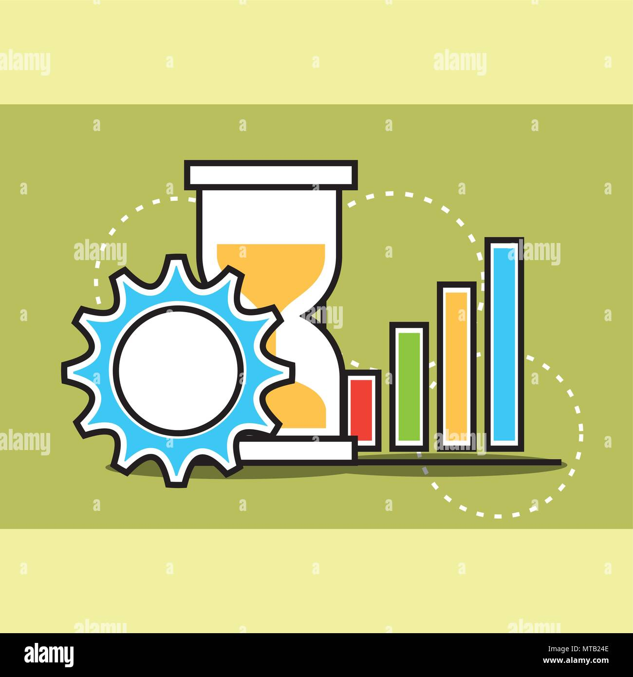 analytics and investment business - Stock Image