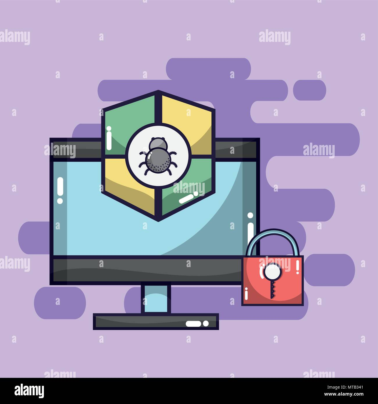 Security system and antivirus - Stock Image