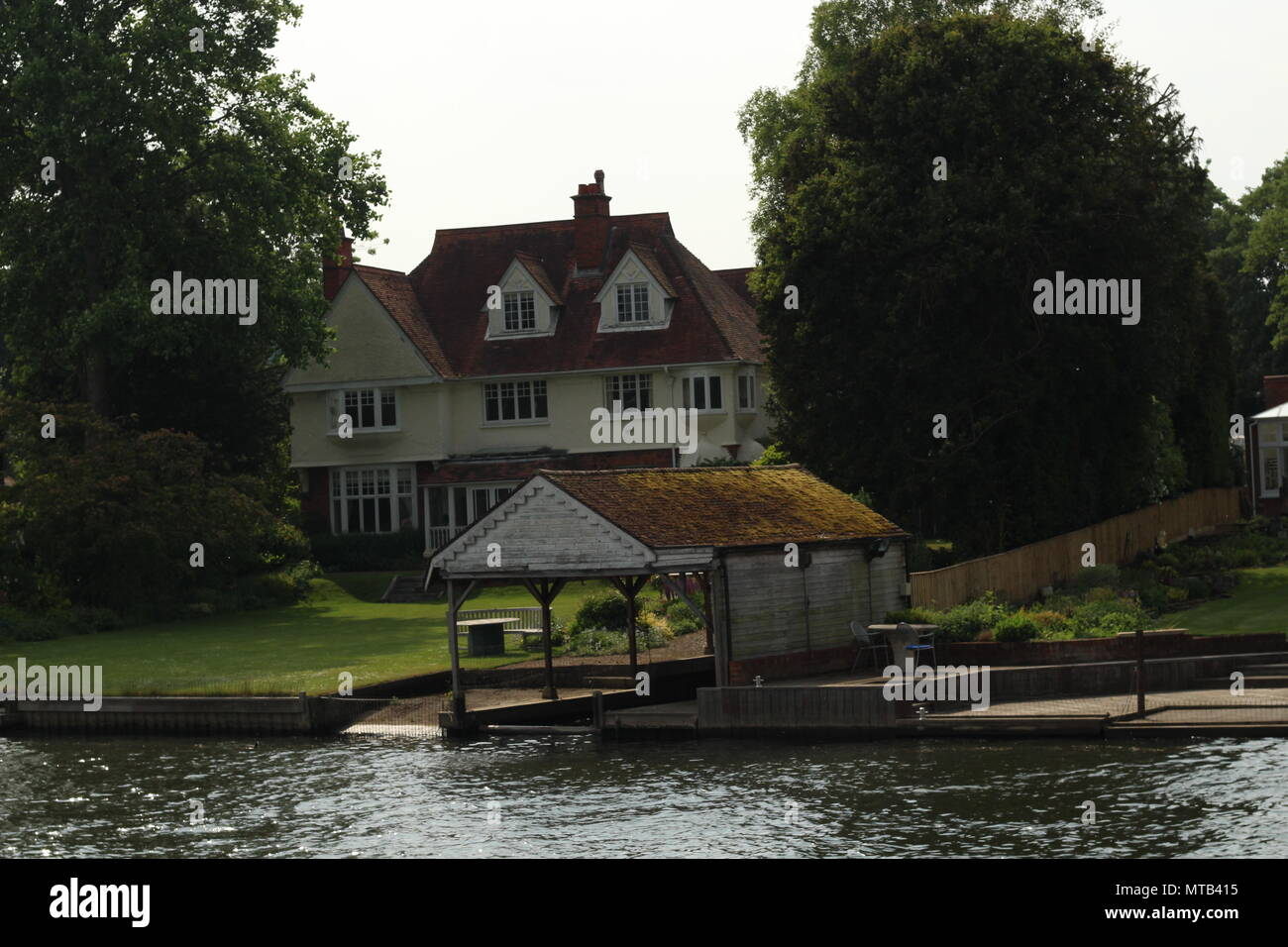 Character properties on River Thames at Henley-on-Thames Oxfordshire, Britain. - Stock Image