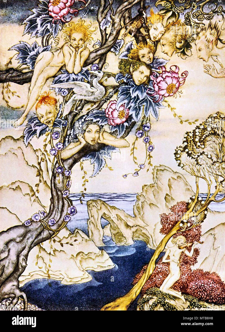 Rackham Arthur - the Tempest - the Isle Is Full of Noises Sounds and Sweet Airs that Give Delight an Hurt Not - Stock Image