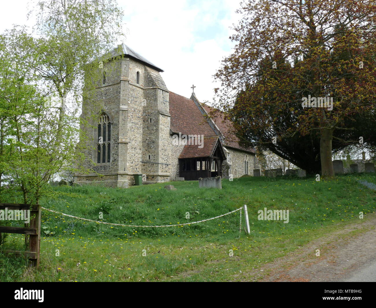 Rural Church in Suffolk, England, between Bury St Edmunds and Lavenham - Stock Image