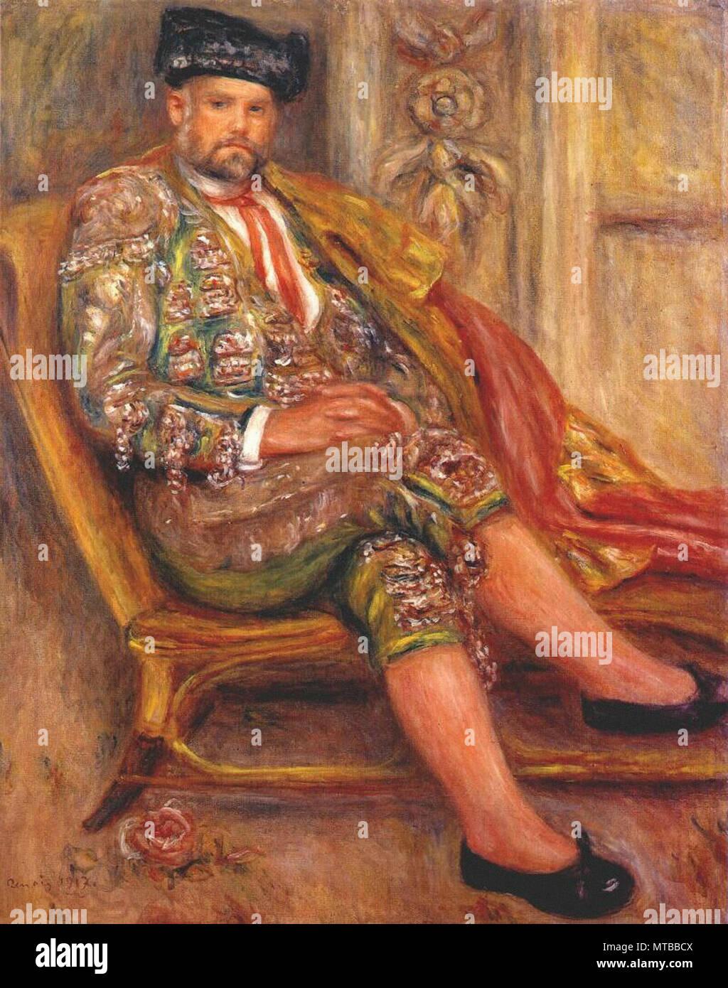 Renoir Pierre-Auguste - Ambroise Vollard Dressed as a Toreador 1917 - Stock Image