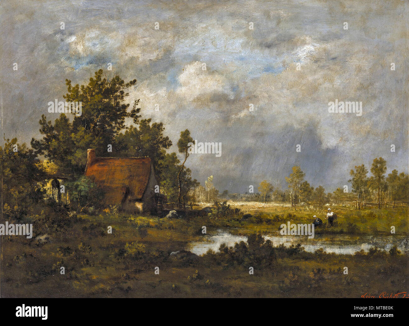 Richet Leon - on the Edge of the Forest of Barbizon - Stock Image
