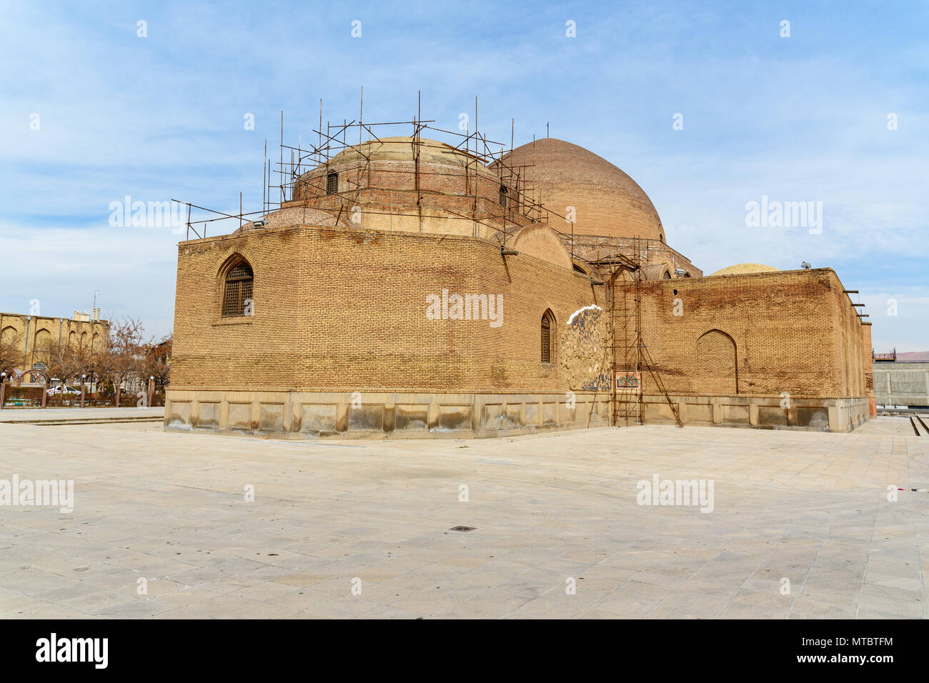 View of Blue Mosque. The mosque were constructed in 1465. Tabriz. East Azerbaijan province. Iran - Stock Image