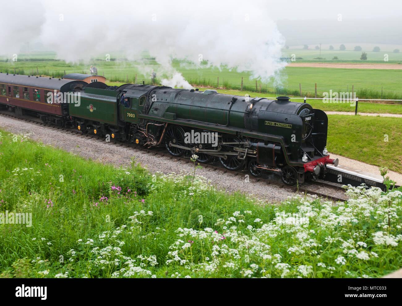 Britannia Class Steam Locomotive Stock Photos & Britannia