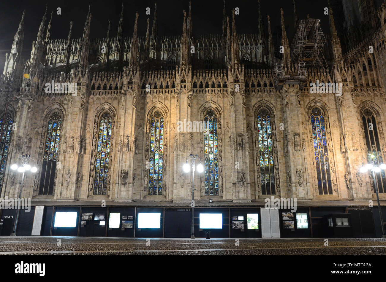 Milan Cathedral (Duomo), Milan, Lombardy, Italy, January 2018 - Stock Image