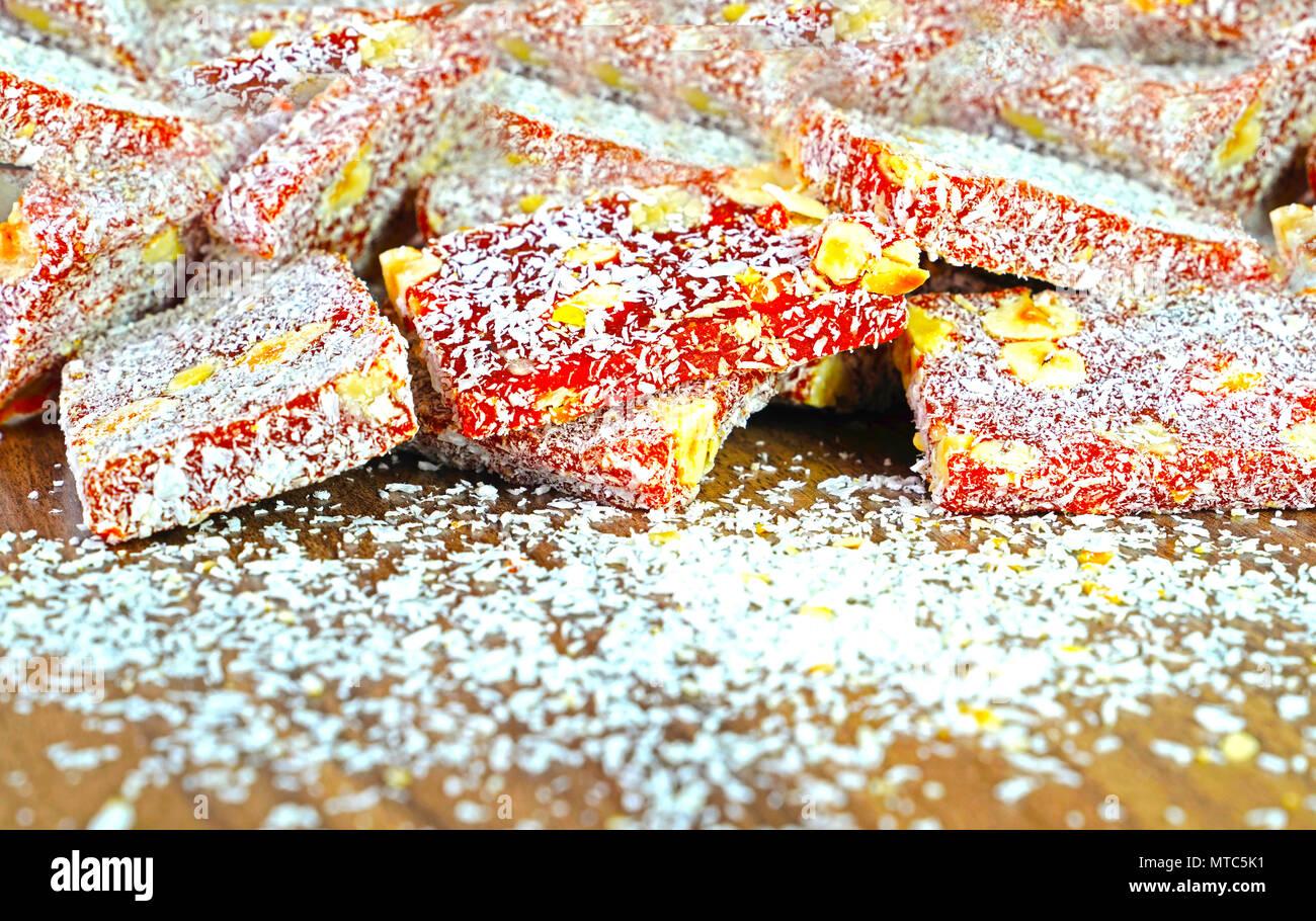 Cezerye dessert, traditional carrot Turkish dessert. Stock Photo