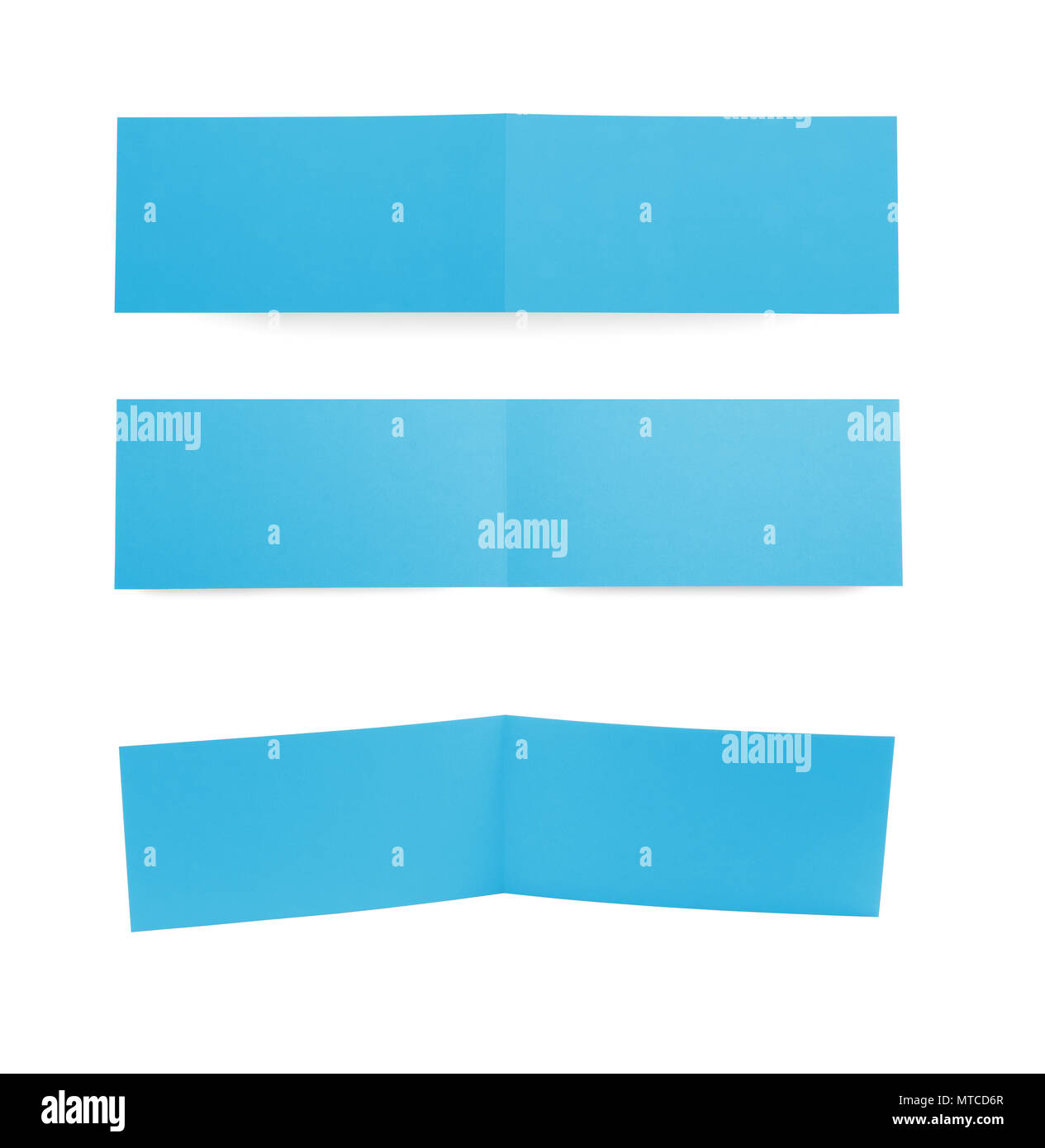 Different Point Of View Of Greeting Cards On White Background