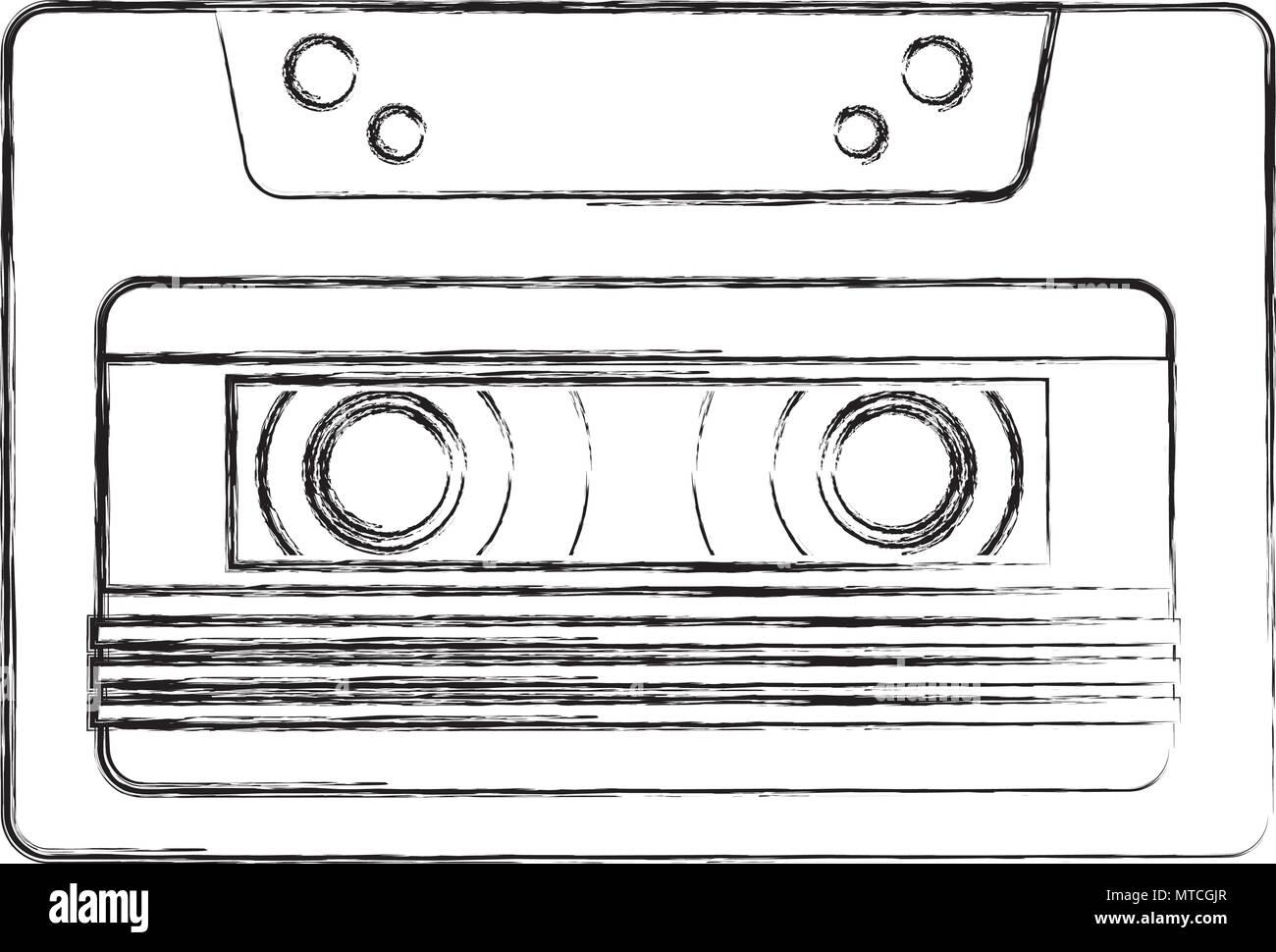 retro cassette recorder music vintage - Stock Image