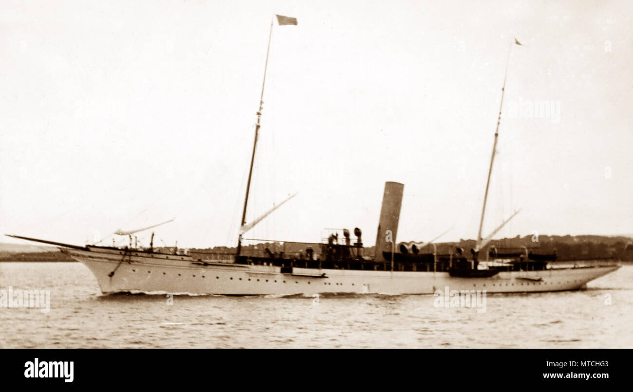 Sir Thomas Lipton's Steam Yacht 'Erin', early 1900s - Stock Image