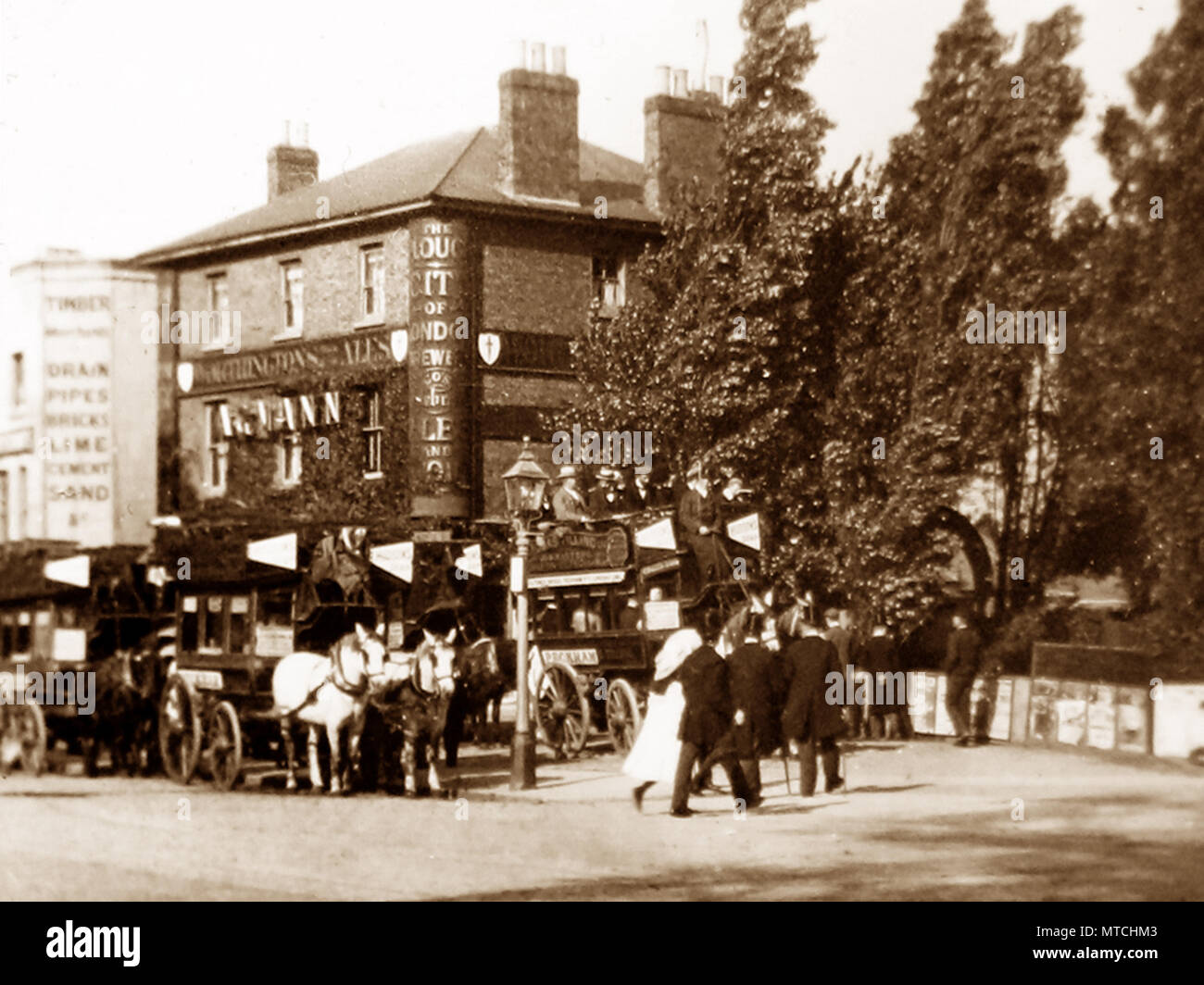 The Plough Inn, Dulwich, London, Victorian period - Stock Image