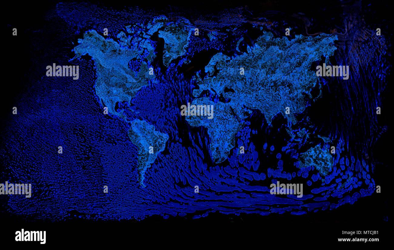 Schematic View of Global Ocean Warming - Stock Image