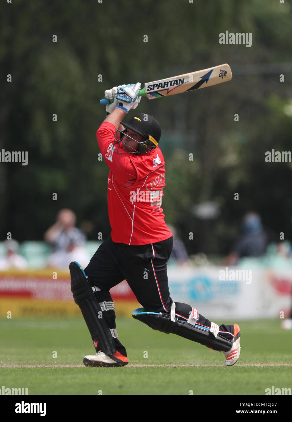 Leicestershire's Mark Cosgrove during the North Group match of the Royal London One Day Cup at New Road, Worcester. - Stock Image