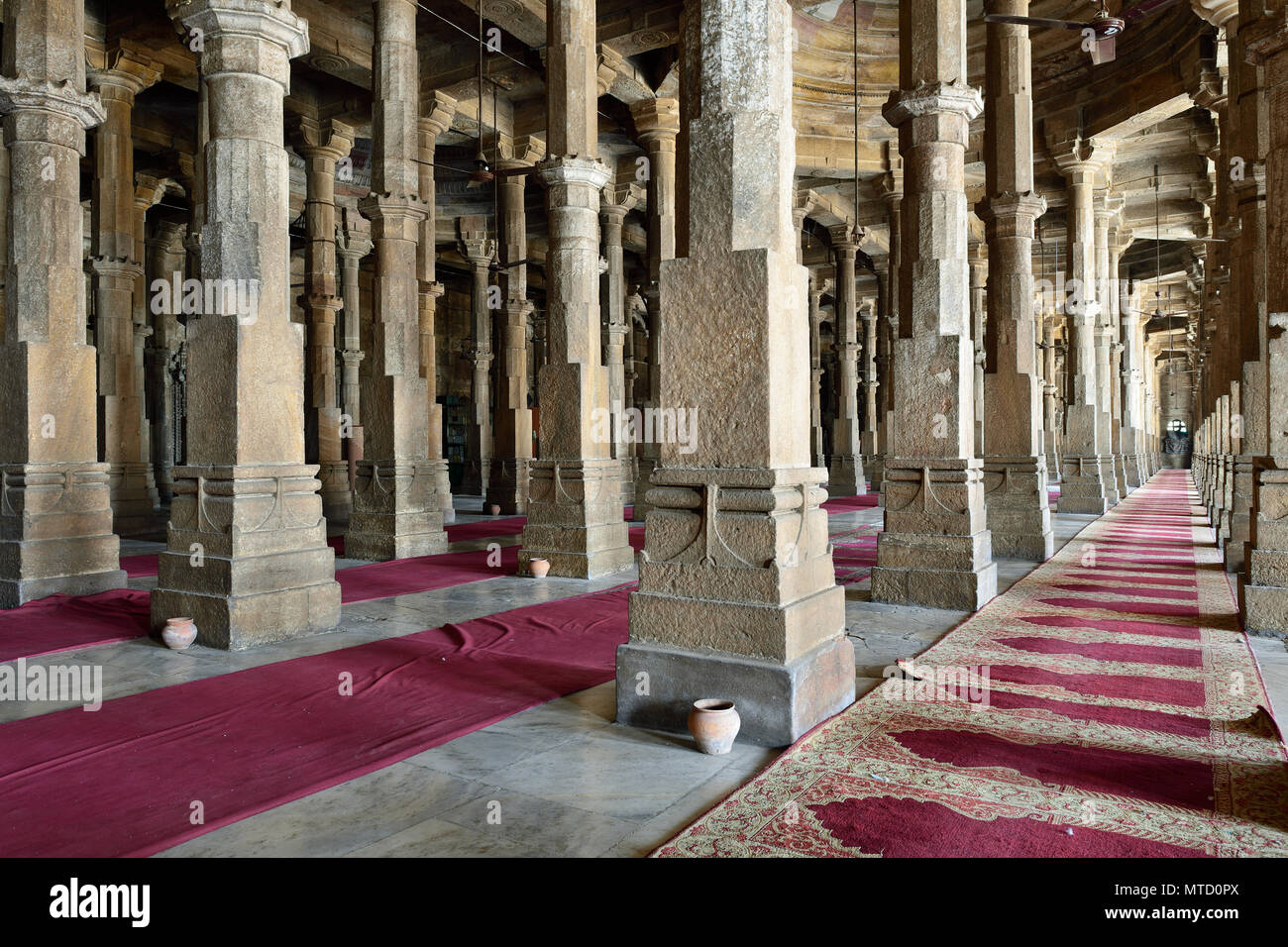 Jama Masijd mosque is the most splendid mosque of Ahmedabad city in India - Stock Image