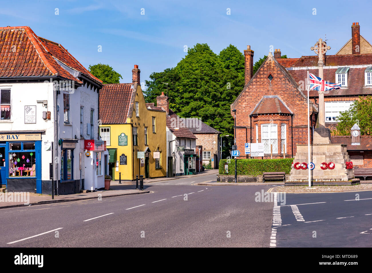 Holt a Georgian town in Norfolk. England. UK. - Stock Image