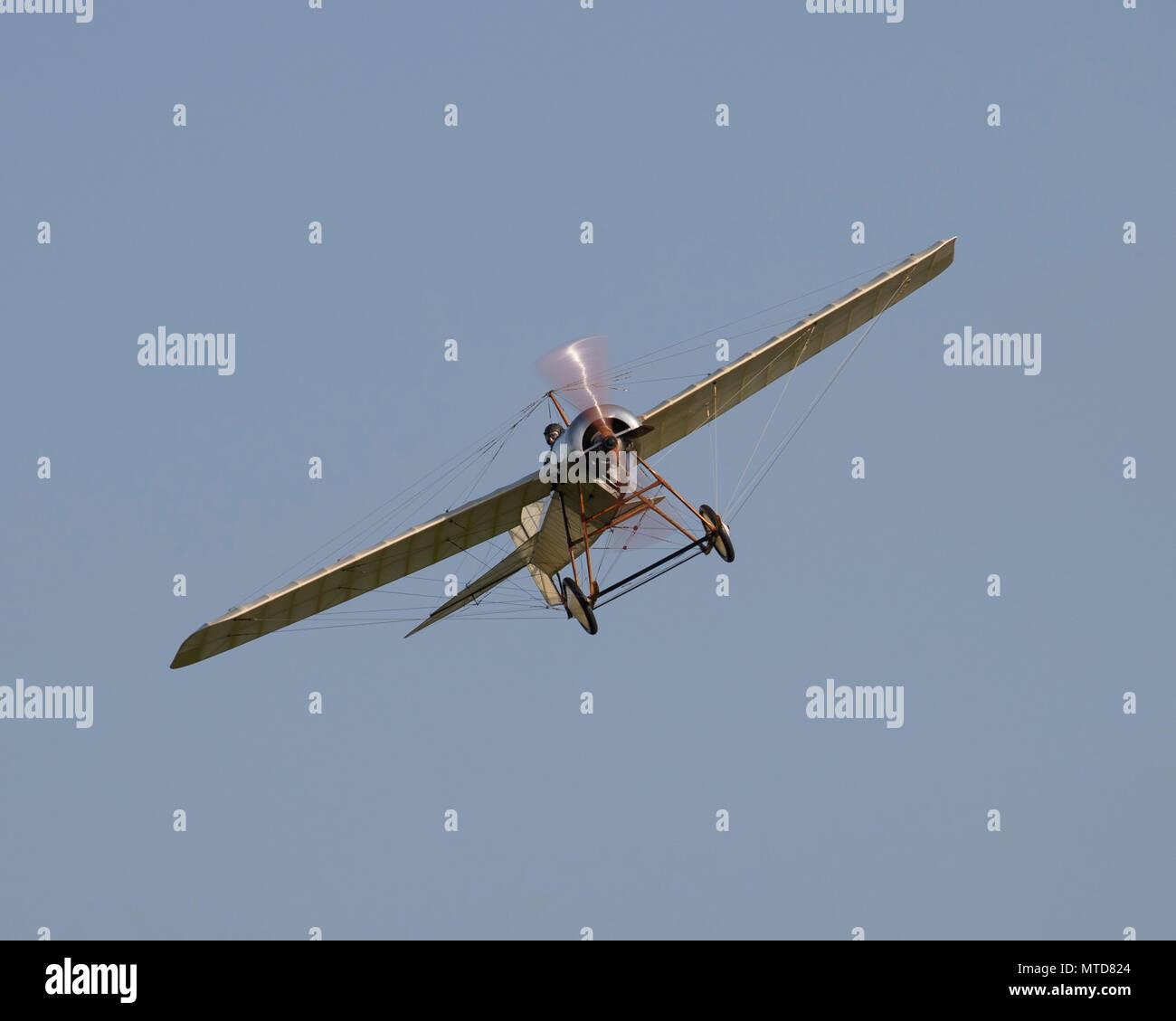Blackburn Monoplane flying at the Shuttleworth Trust - Stock Image