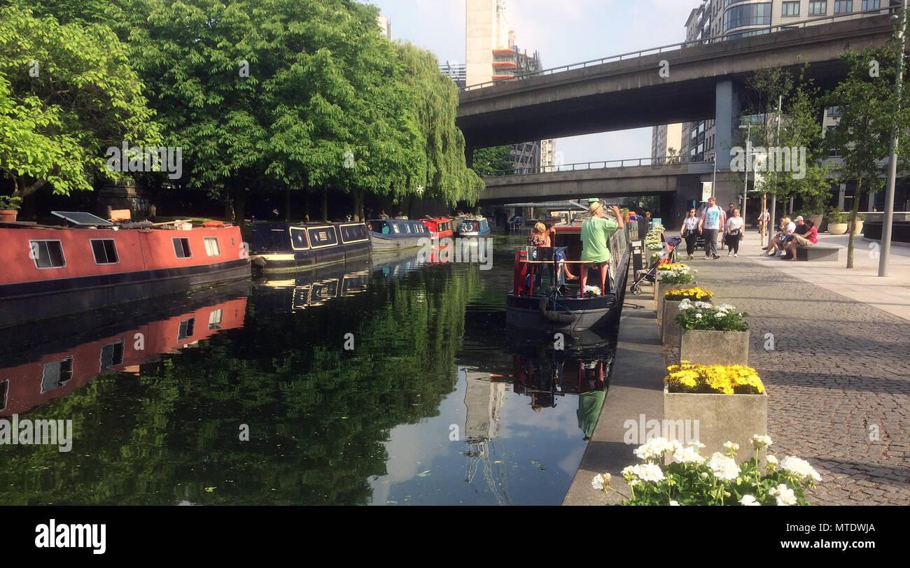Canal at Paddington Basin London Stock Photo