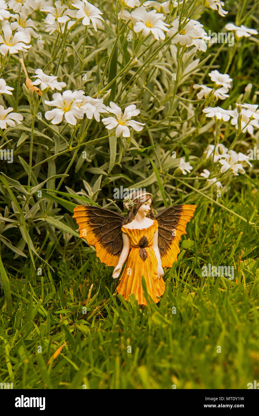 Model fairy in the garden - Stock Image