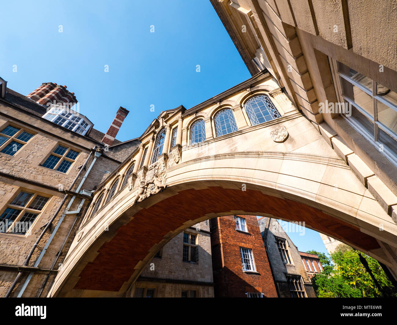 The Bridge of Sighs, Oxford Landmark, Hertford College, Oxford, Oxfordshire, England, UK, GB. - Stock Image