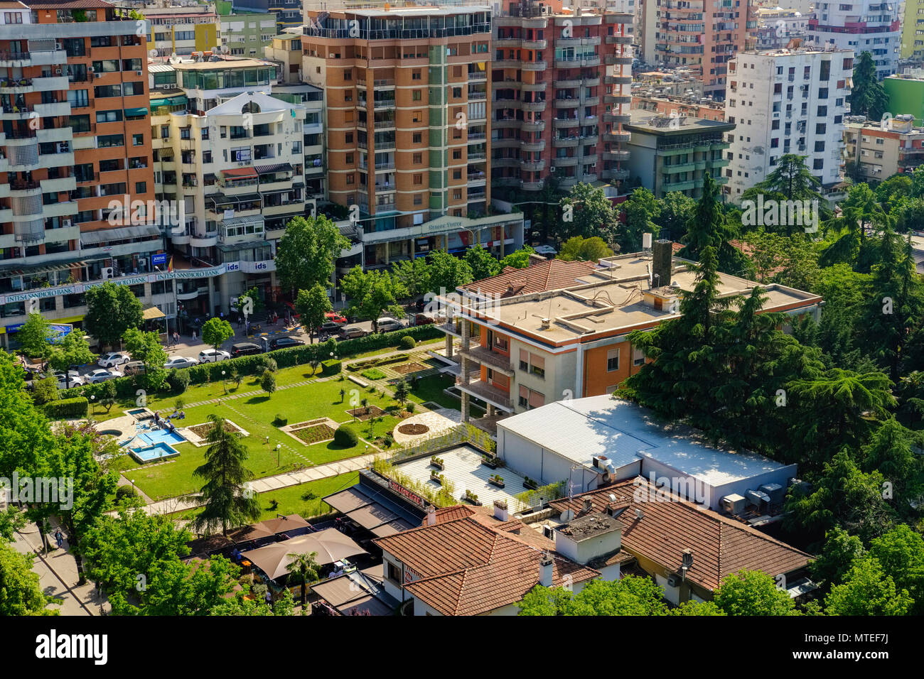 Villa of Enver Hoxha, 1944 to 1985 dictator of the Socialist People's Republic of Albania, Blloku district, Tirana, Albania - Stock Image