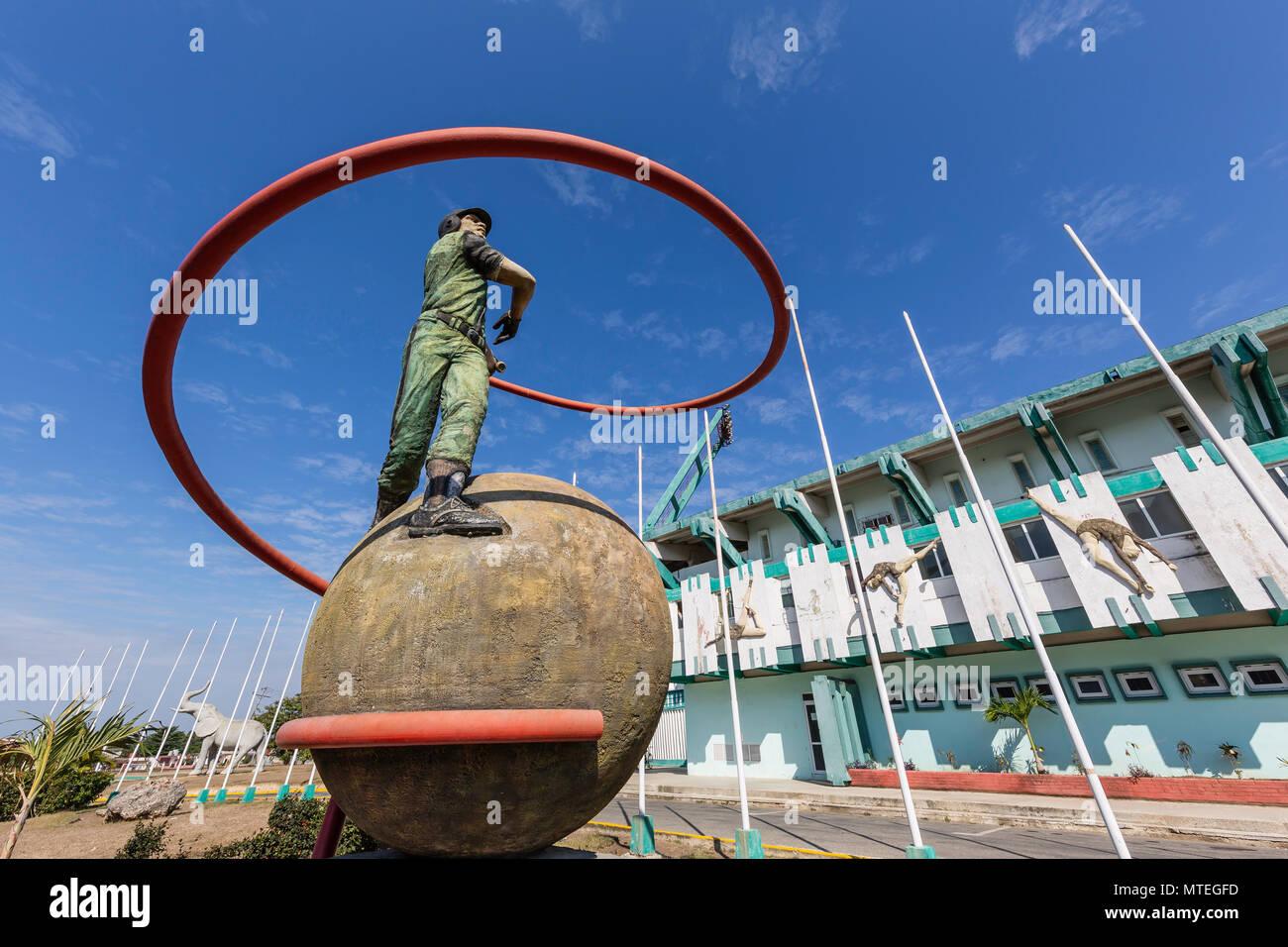 The Academia Provincial de Beisbol stadium in Cienfuegos, Cuba. - Stock Image